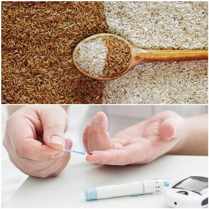 Arroz blanco o integral para la diabetes