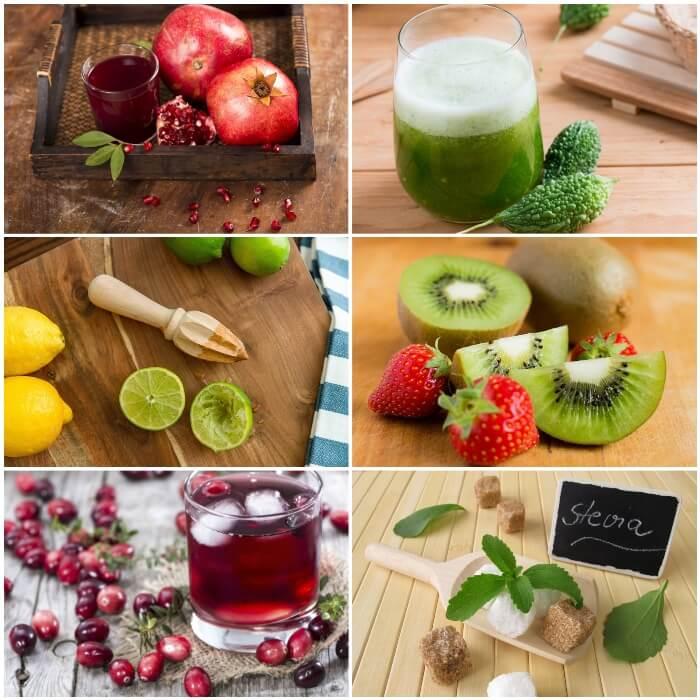 Jugos naturales de frutas para diabéticos